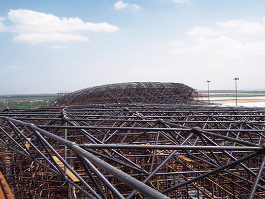 erdos steel space frame airport 12000 square meters 4