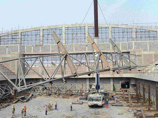 henan university of science and engineering steel space frame stadium 2