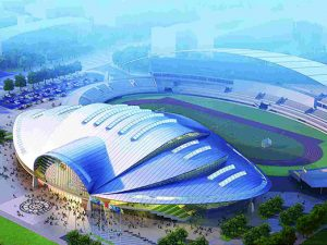 henan university of science and engineering steel space frame stadium 4