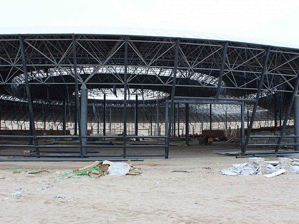 korla steel space frame system theme park 2