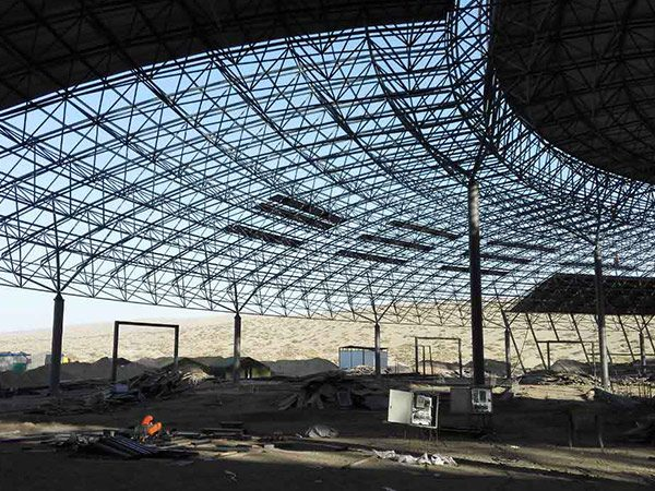 korla steel space frame system theme park 4