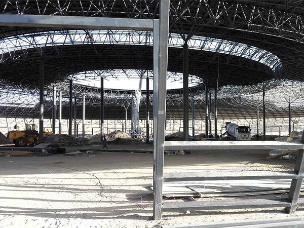 korla steel space frame system theme park 6