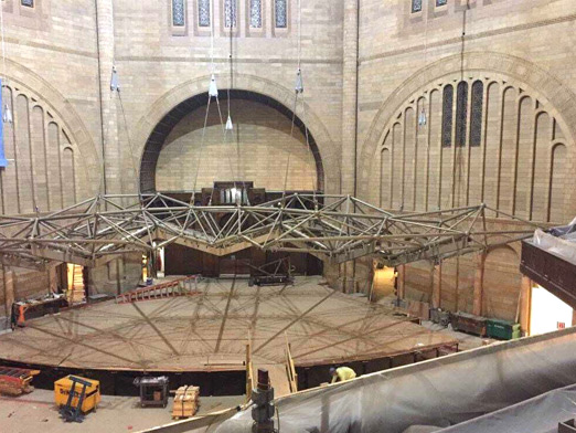 steel structure decoration of music hall in usa 1