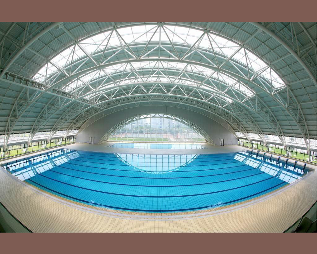 1.swimming pool roof space frame