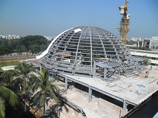 bangladesh conference building with steel structure and aluminum veneer(1)