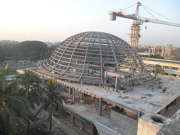 bangladesh conference building with steel structure and aluminum veneer(3)