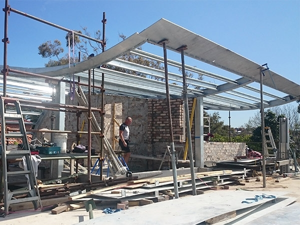 steel structure building for australian villa
