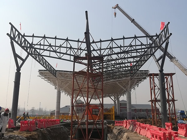 zhoukou toll station spatial truss(1)