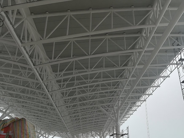 zhoukou toll station spatial truss(2)